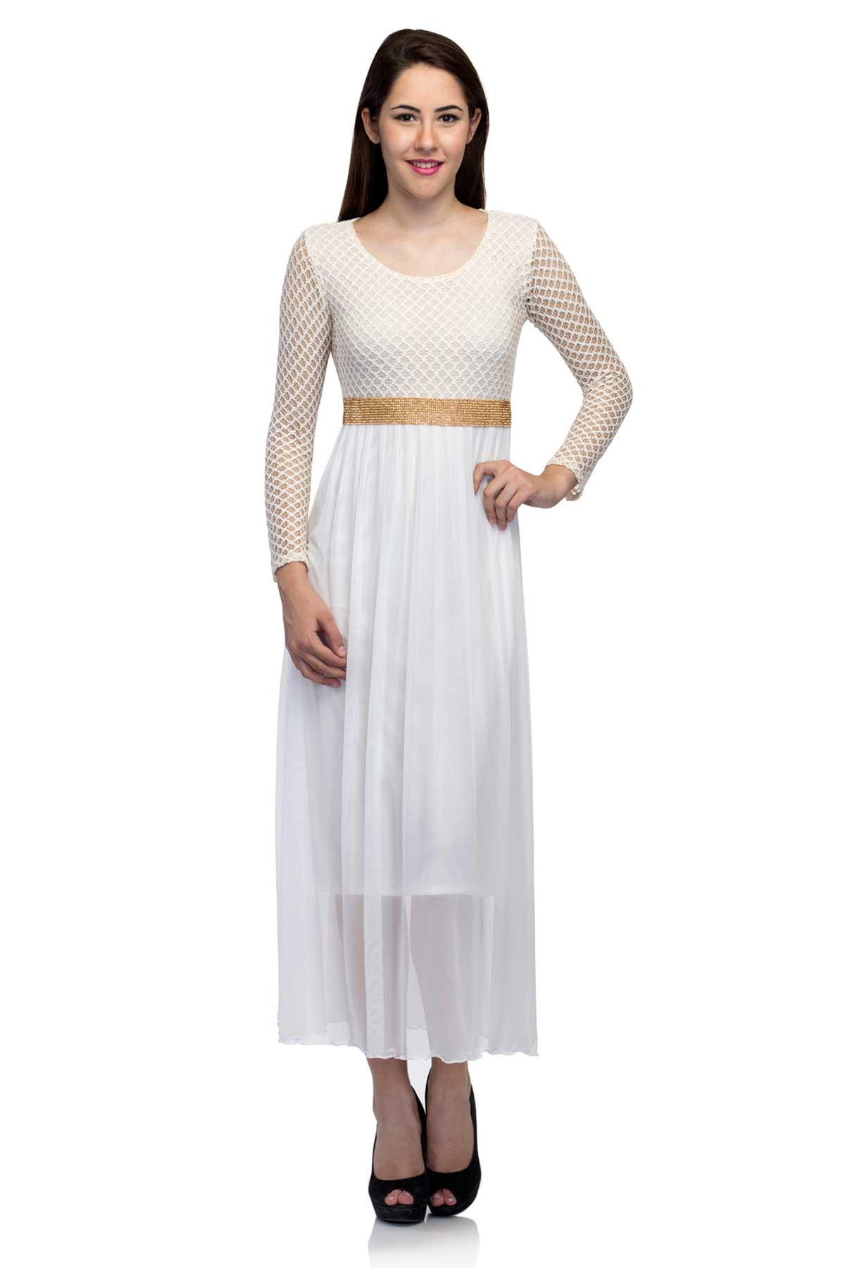 White Cutwork Gown by RIB for rent online | RENT IT BAE