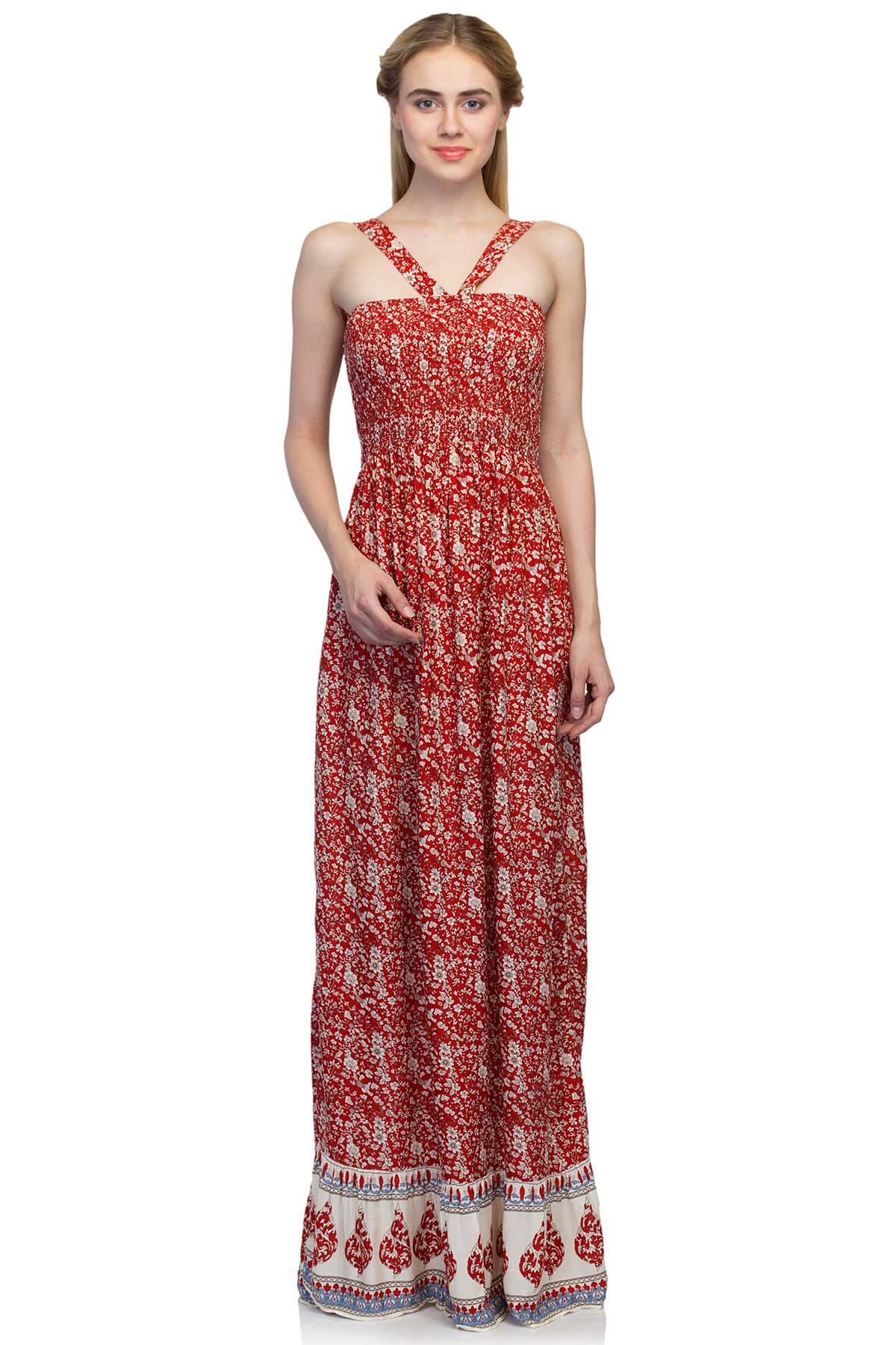 5ca2497bcc3 Red   White Long Tube Dress by Atmosphere for rent online