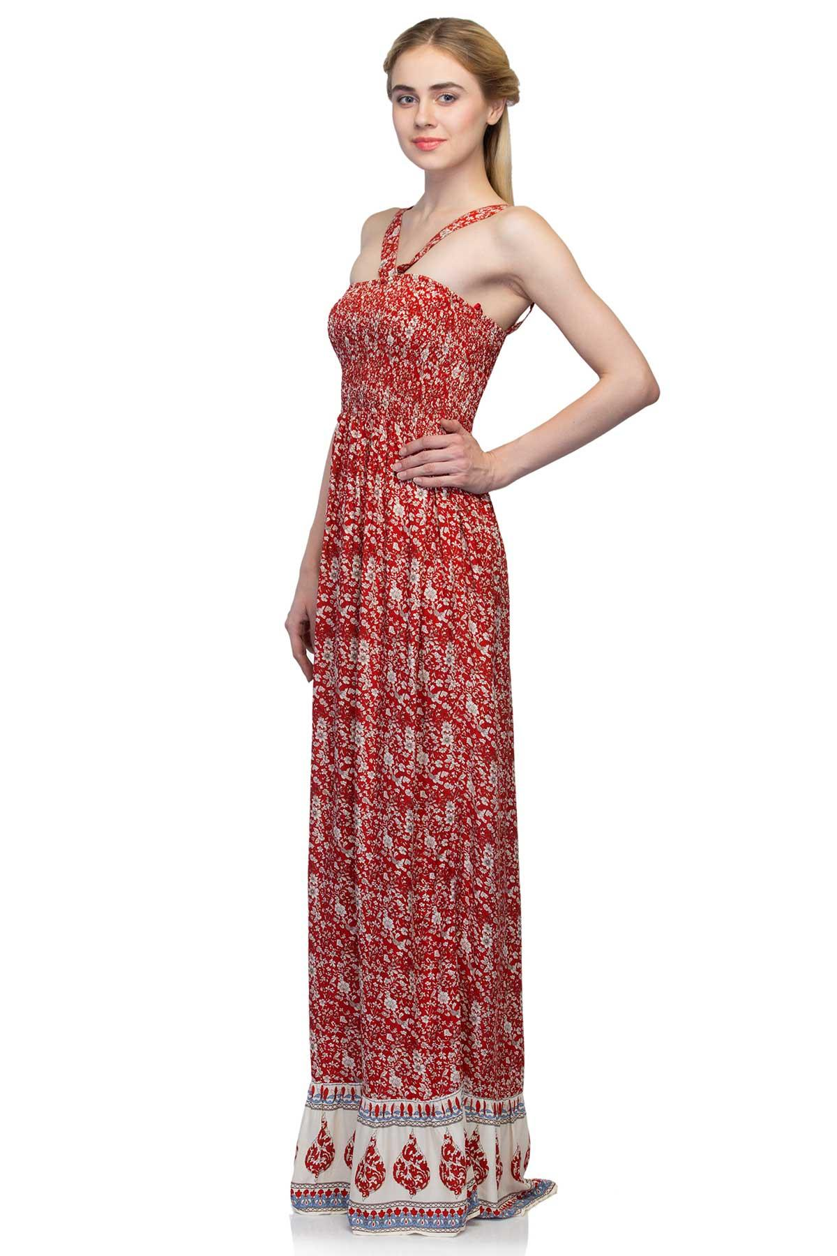 f95f3e69212 ... rent Atmosphere clothing Long Tube Dress Red   White dress for ...