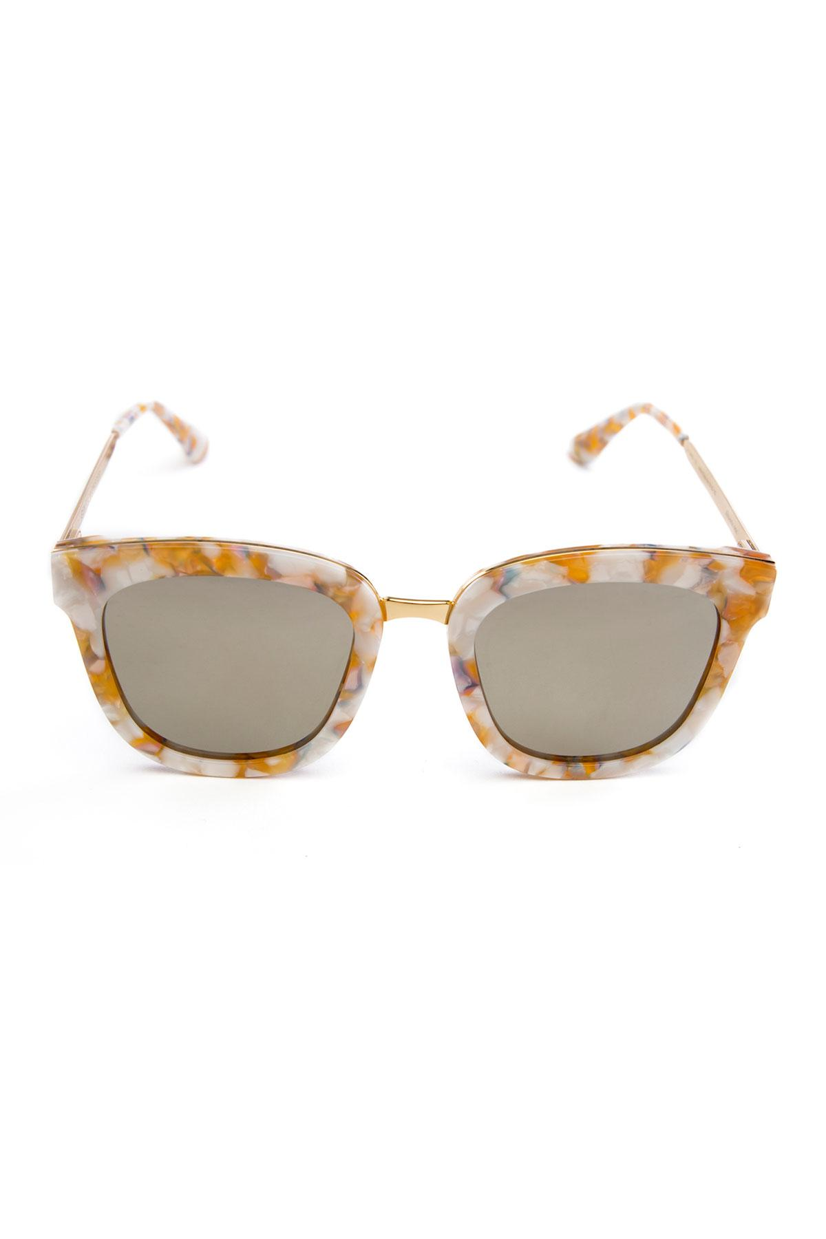 b70202ce72a6 White and Yellow pearly finish Square Frame by Gentle Monster for ...