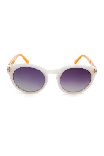 25957b0f53af Tom Ford sunglasses Retro Sun Wear Yellow and White sunglasses for rent