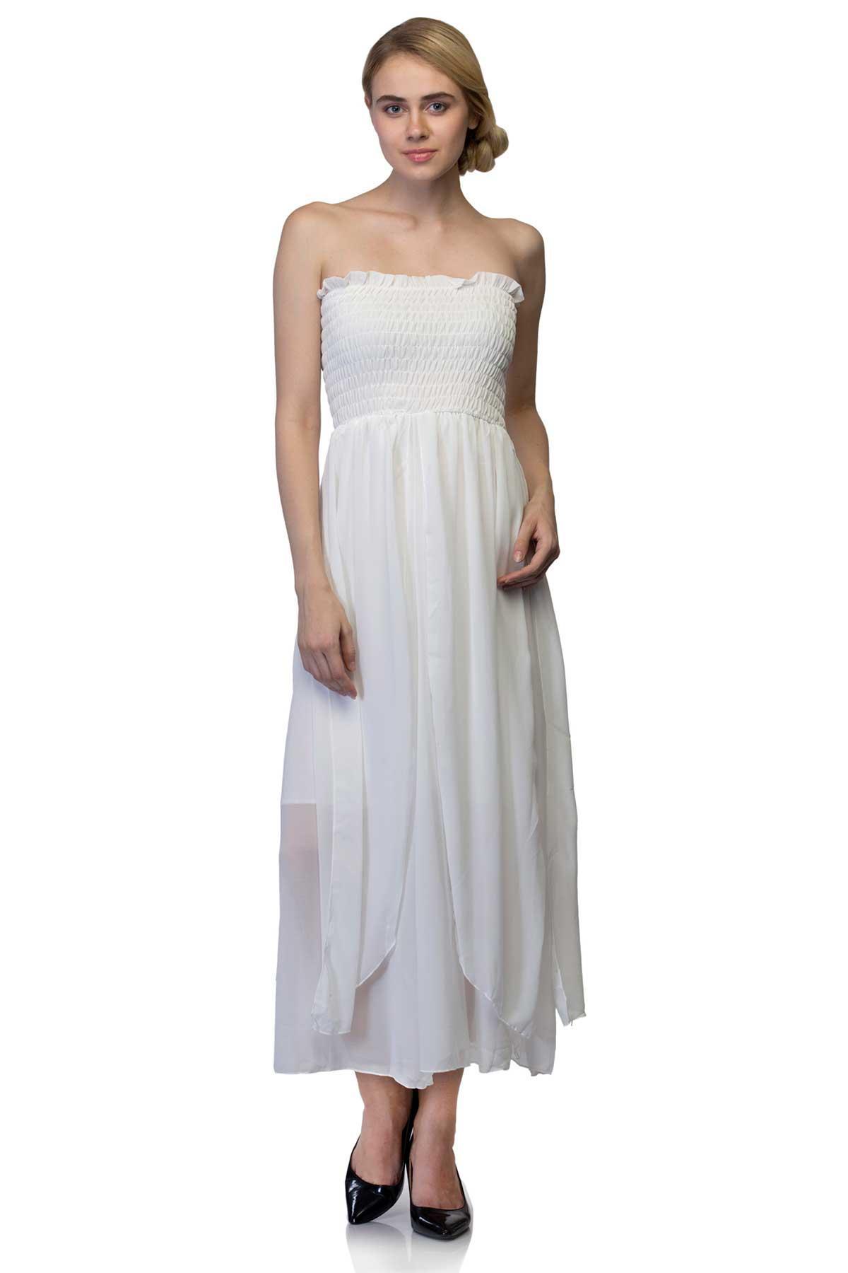 e388dc953c1 White Tube Dress by RIB for rent online