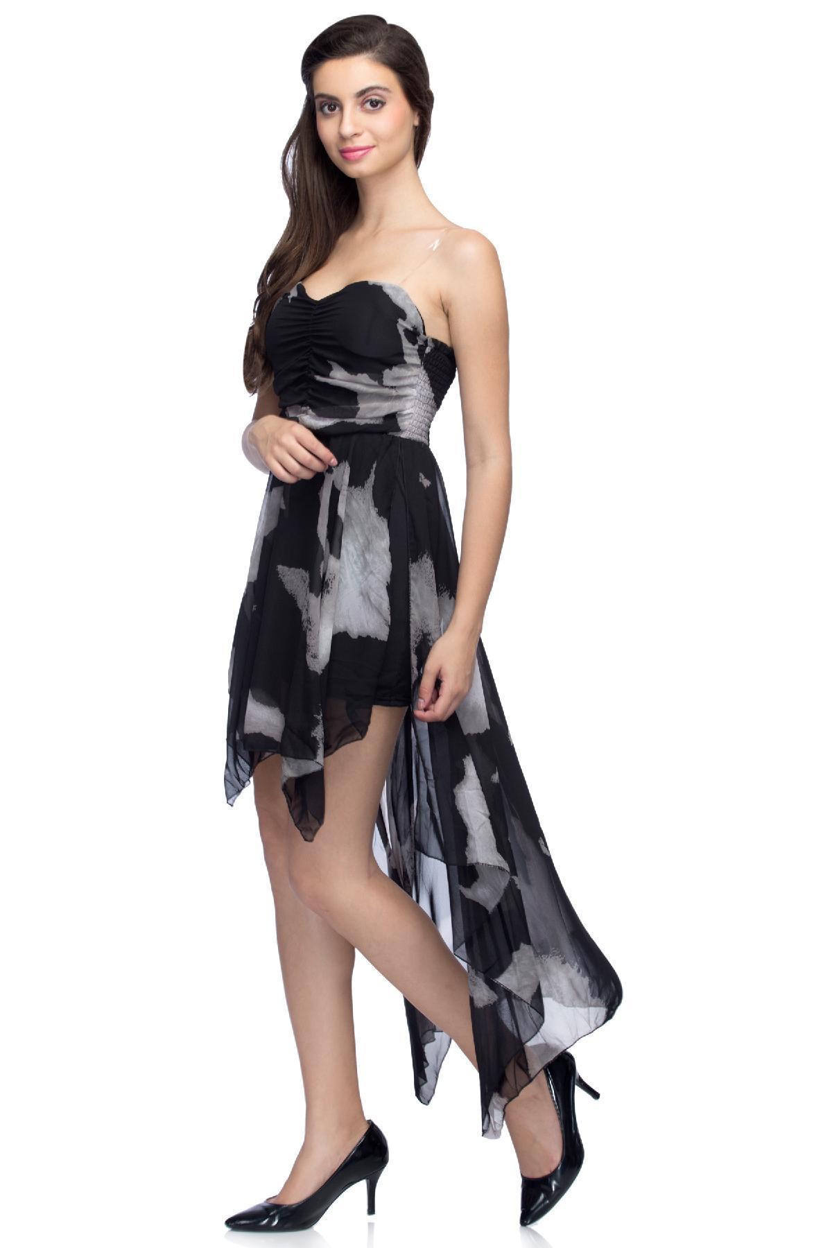 5f231d9cd27 ... rent RIB clothing Diva Tube Dress Black   White dress for ...