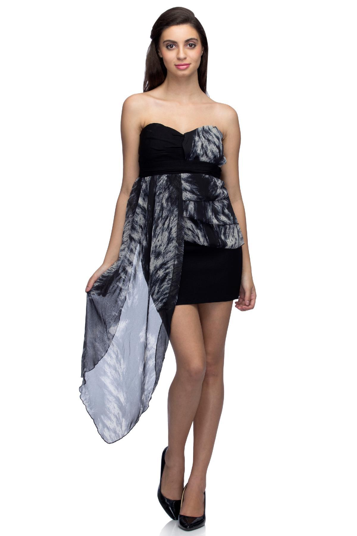c8bb55a1b62 RIB clothing The Freedom Dress Black   White dress for rent ...