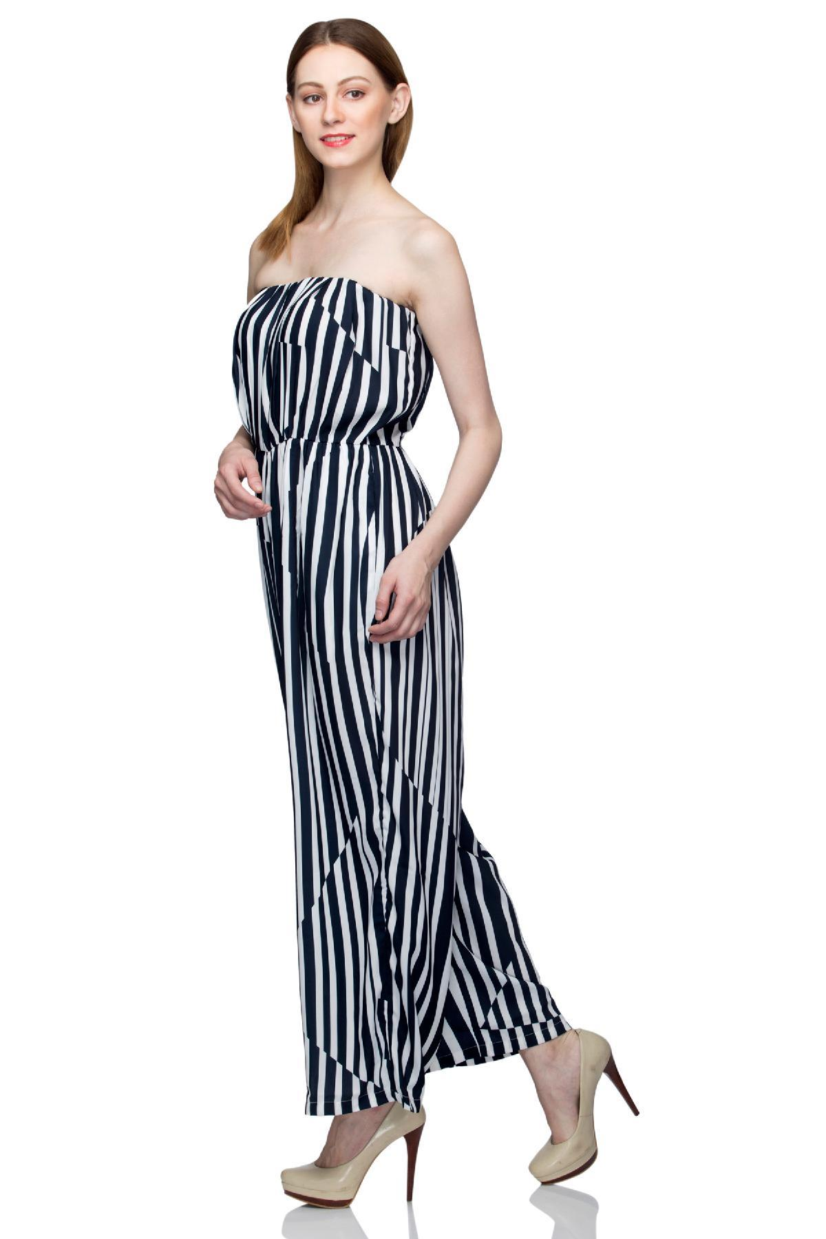 b770221b841 Black   White Tube Jumpsuit by United Colors of Benetton for rent ...