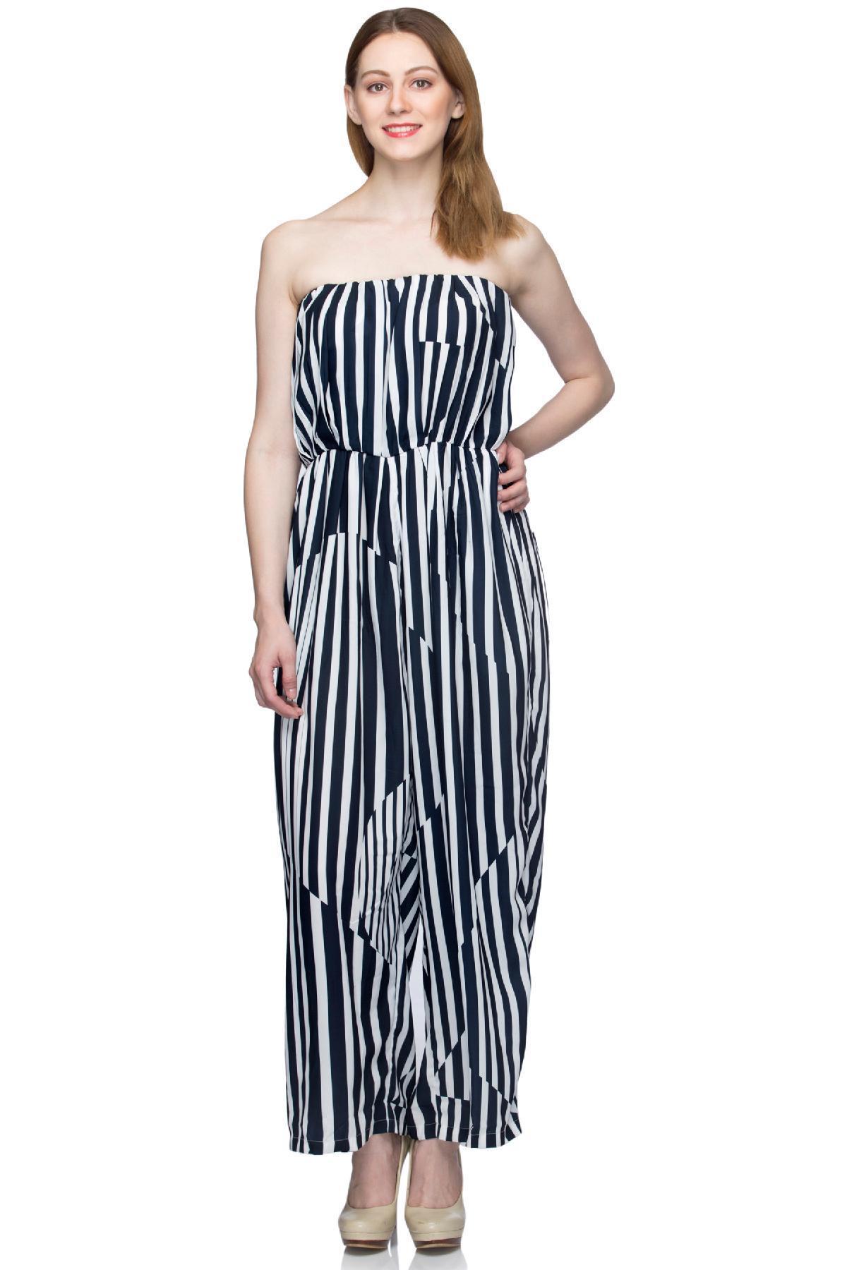 77113e516d3 ... rent United Colors of Benetton clothing Tube Jumpsuit Black   White  jumpsuit for ...
