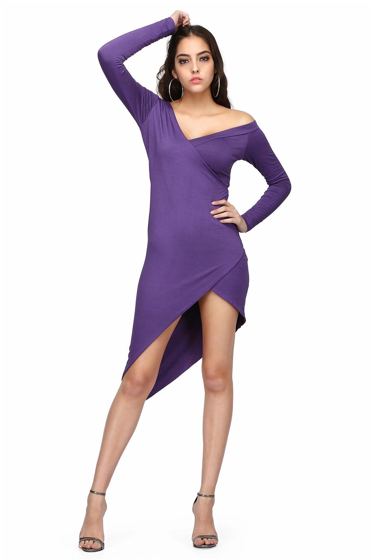 e725f0652d4 Purple off Shoulder Dress