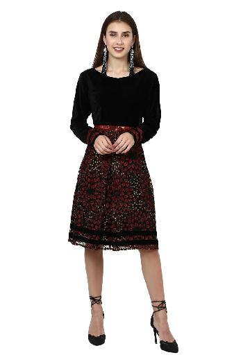025c9c98 Mouktika clothing Black And Red Vintage Style Dress Black & Red dress for  rent